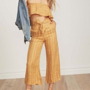 Faithfull the Brand linen mustard stripped set